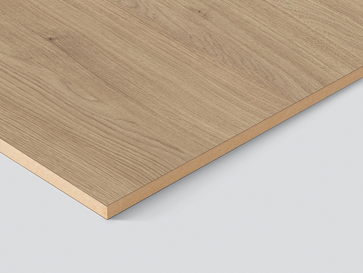 The core of the Eurodekor melamine faced MDF boards consists of fine, homogeneous fibrous material, suitable for high-quality edging or surface milling