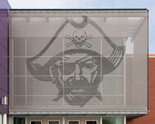 Etched Metal Fabric in Piper High School