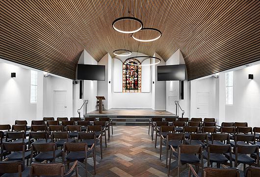 Sculptform | All Souls Chapel - Timber Click-on Battens