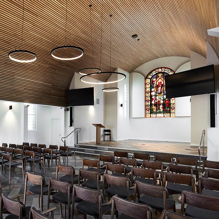 Timber Batten Ceiling in All Souls Chapel