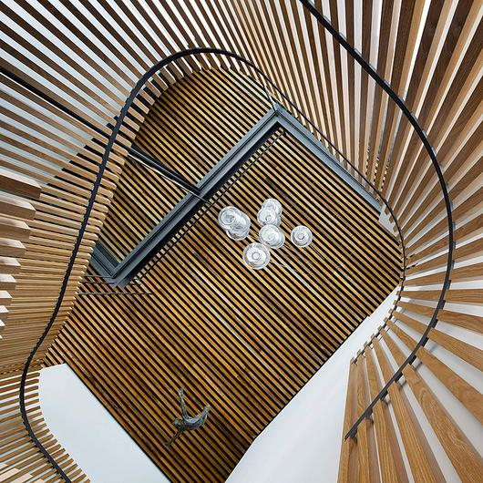 Timber Battens in Double Bay House / Sculptform
