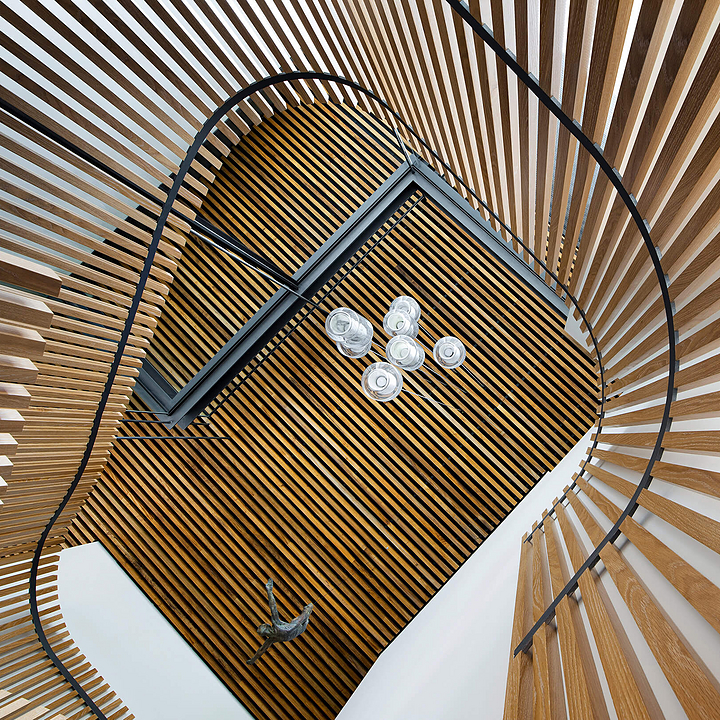 Timber Battens in Double Bay House