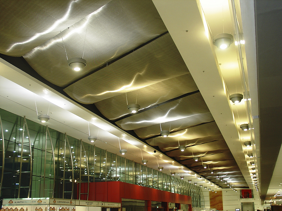 Gallery Of Ceilings With Metal Fabric 5