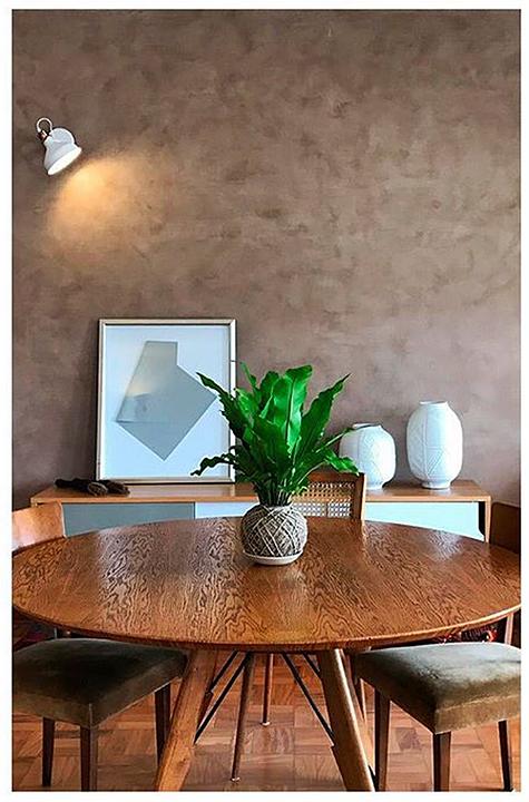 Textura acrílica para revestimento de paredes - Cimento Queimado