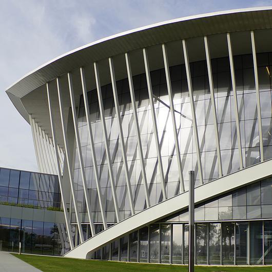 Metal Soffits in Mori Hosseini Student Union Building / MetalTech Global
