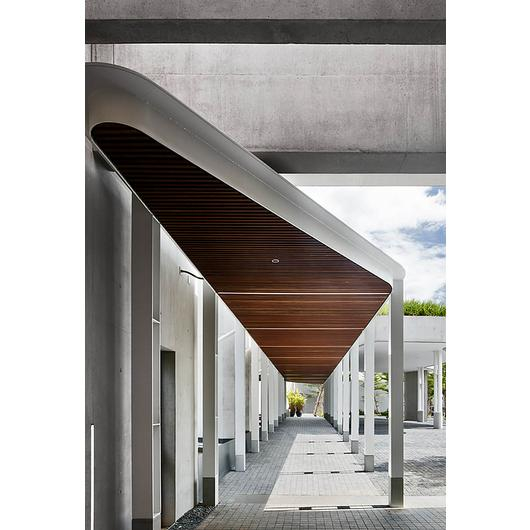 Click-on Battens in Australian Embassy Bangkok / Sculptform
