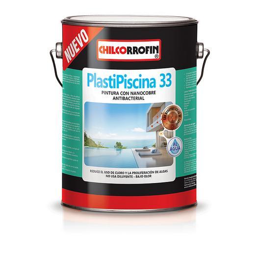 Pintura para piscinas Plastipiscina 33 con Nanocobre al agua / Codelpa