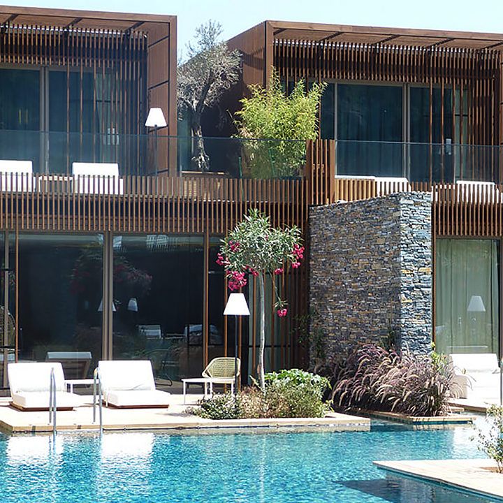 Lunawood Thermowood Façade in Maxx Royal Kemer Luxury Hotel