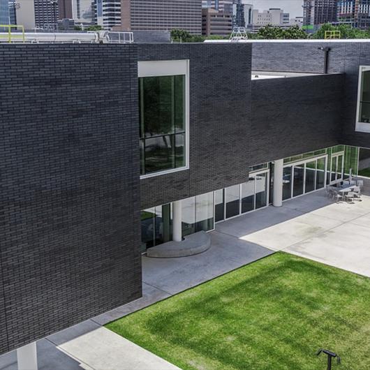 Brick Façade of the Moody Center for the Arts