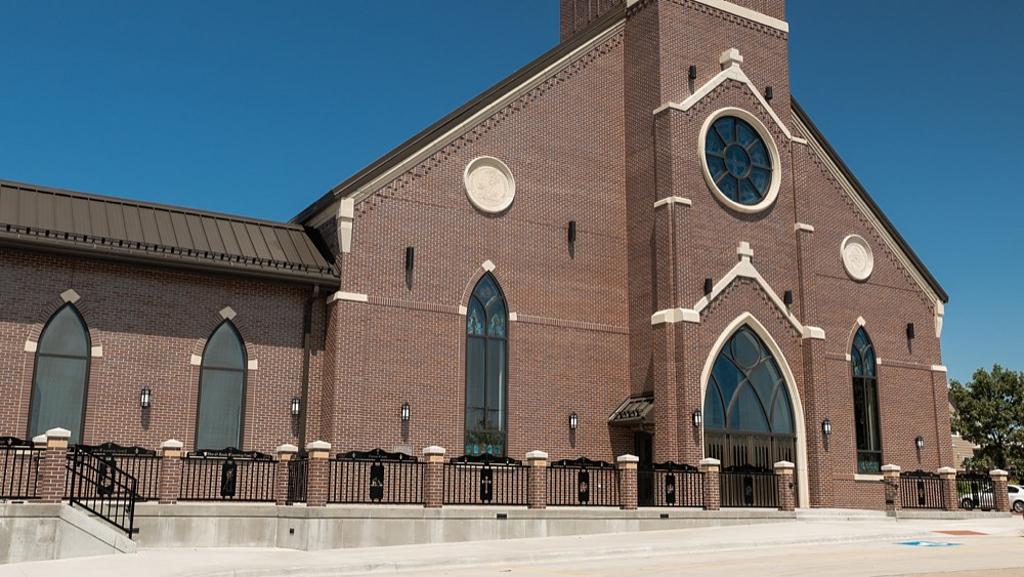 Brick Façade of St. Gregory Church