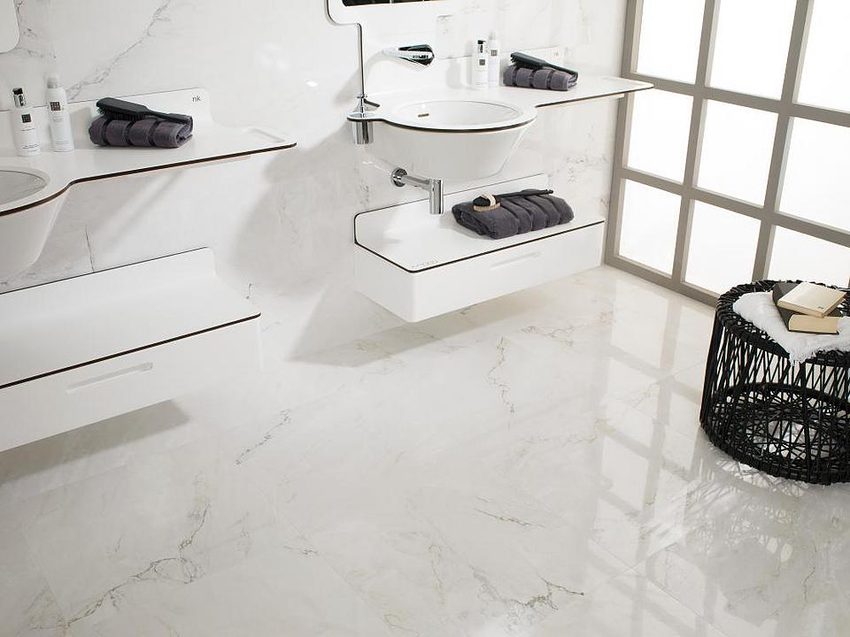 Porcelanato HighKer - Modelo Bianco carrara
