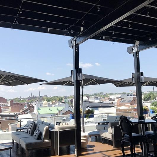 Retractable Outdoor Roofs - The Graham Rooftop / ShadeFX