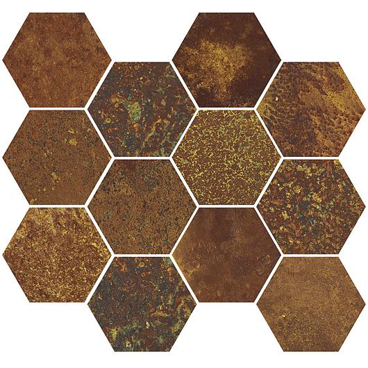 Corten Oxidum Mosaic Hexagon
