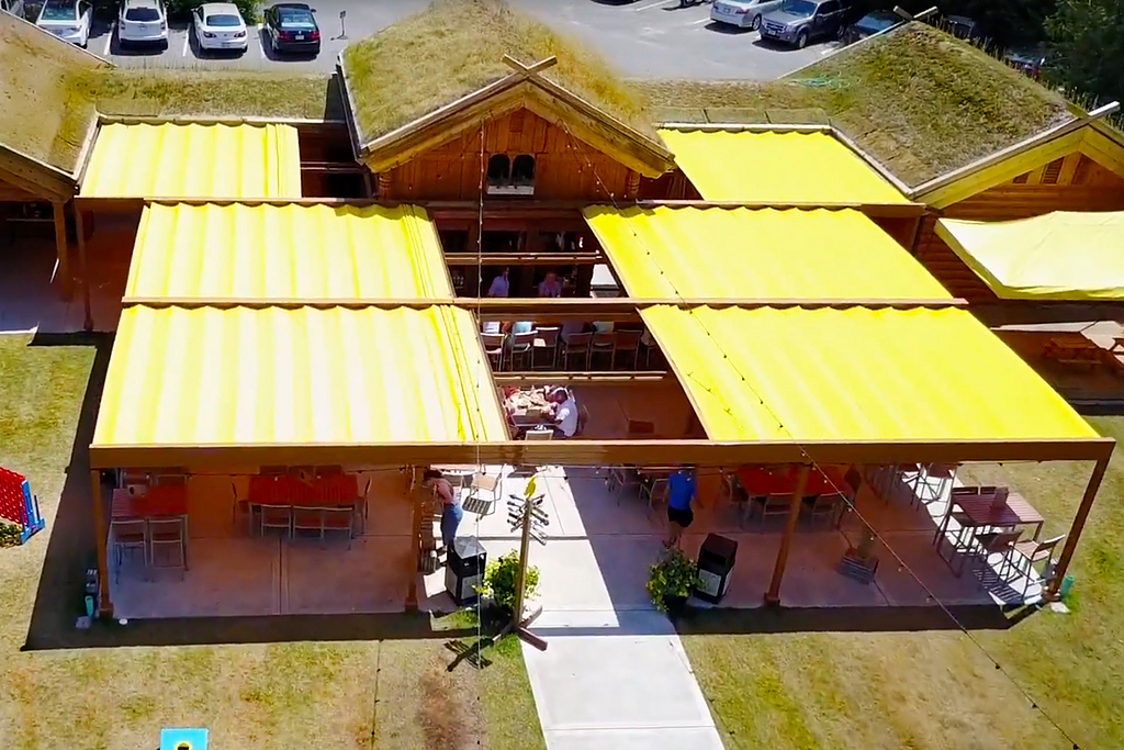 Outdoor Roofs, Attached Structure - Al Johnson's Stabbur Beer Garden