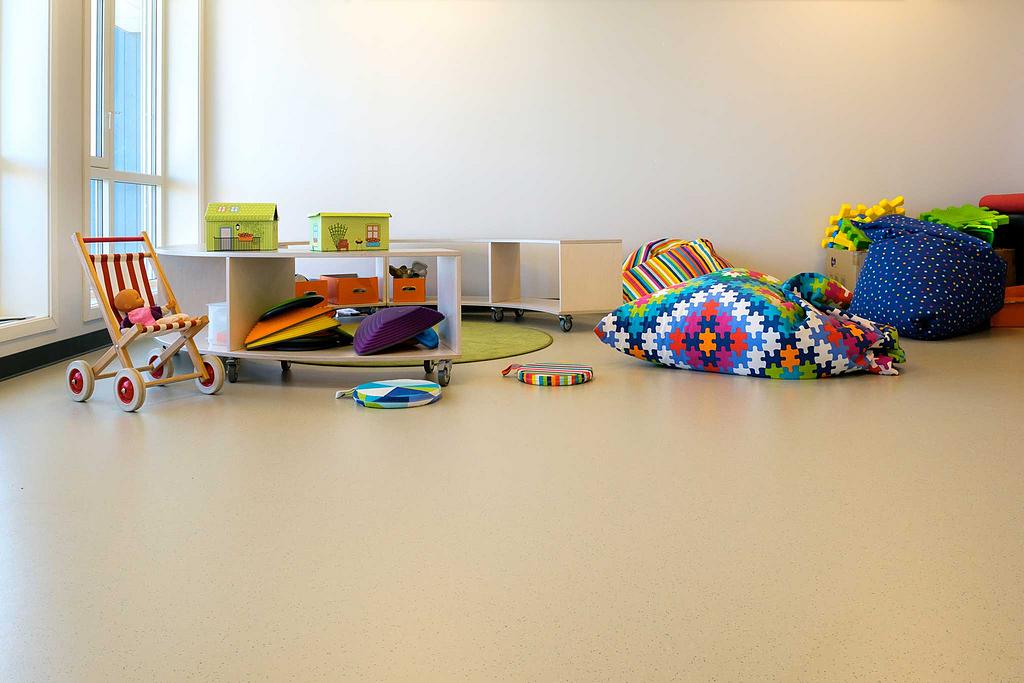 Rubber Flooring in Kindergartens