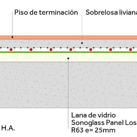 Aislación acústica para losa - SonoGlass / Volcan