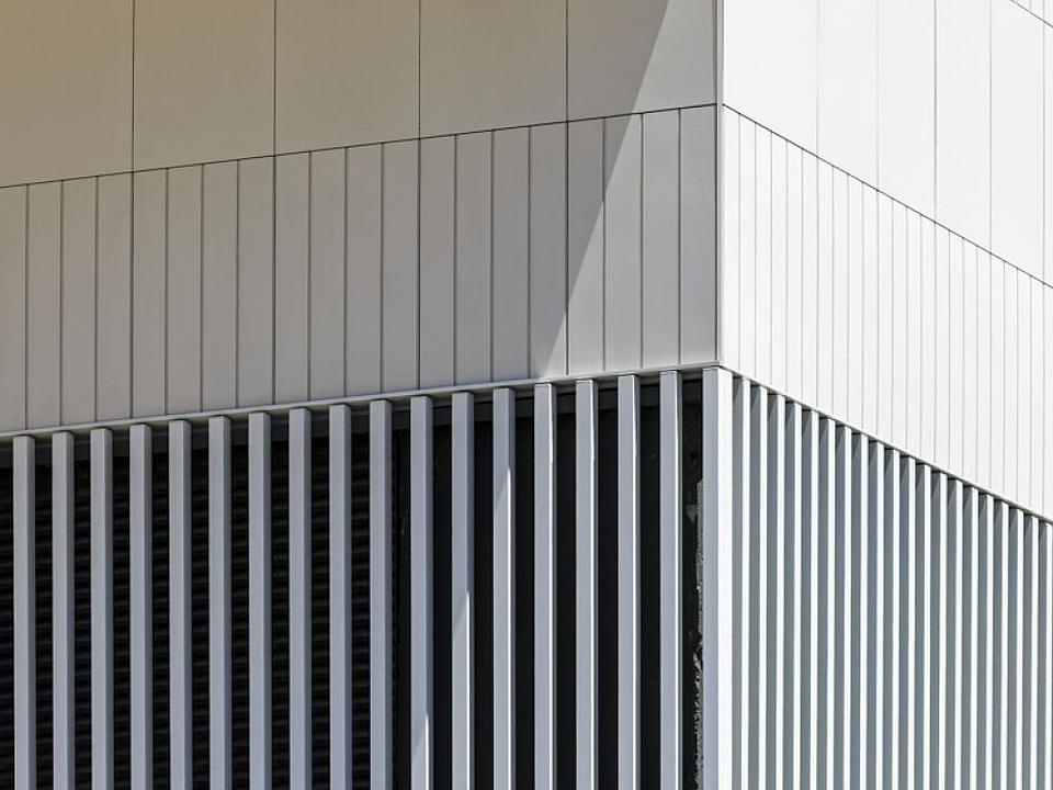 Fretwork Facade Panel in Barcelona Apartment Building