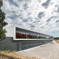 Earth Facade Panels in  Barcelona Health Care Centre
