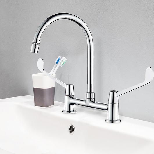Grifería quirúrgica - combinación lavaplatos / Nibsa