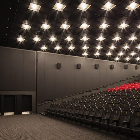 Acoustic Panel System in Nordisk Film Cinemas / Kvadrat Soft Cells