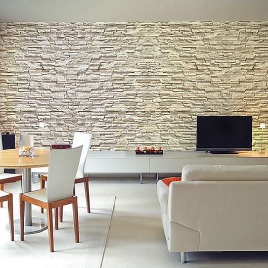 Revestimiento de piedra - Modelo Carolina Blanca / Metaldesign