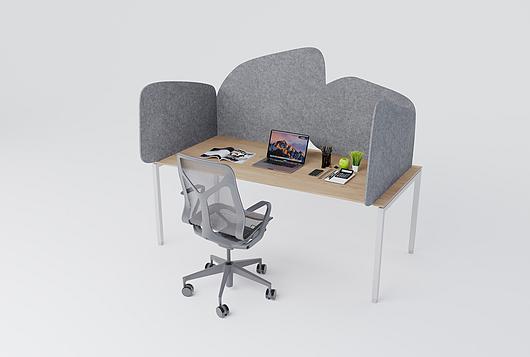 Arktura | Desk Partition - Ridge