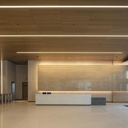 Wood – Veneered Wood Topline® Ceiling & Wall Panels / Hunter Douglas Architectural (Europe)