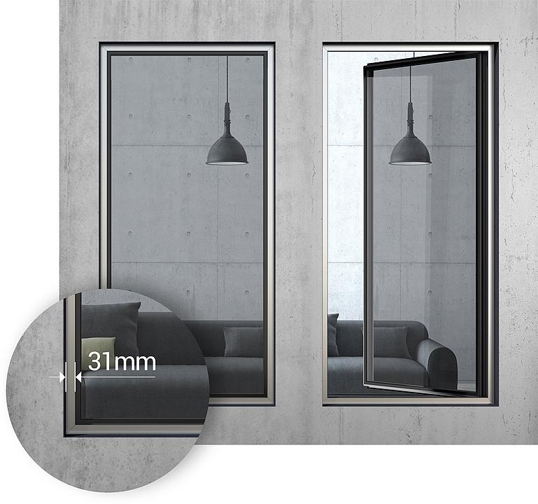 Minimal Casement Windows – Rabel 8400 Slim Super Thermal Plus