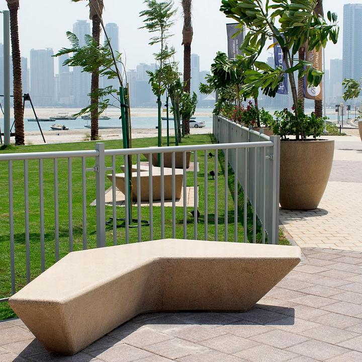 Concrete Bench - Boomerang