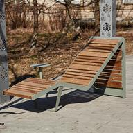 "Bench ""Infinity Wood"" Sun Lounger"