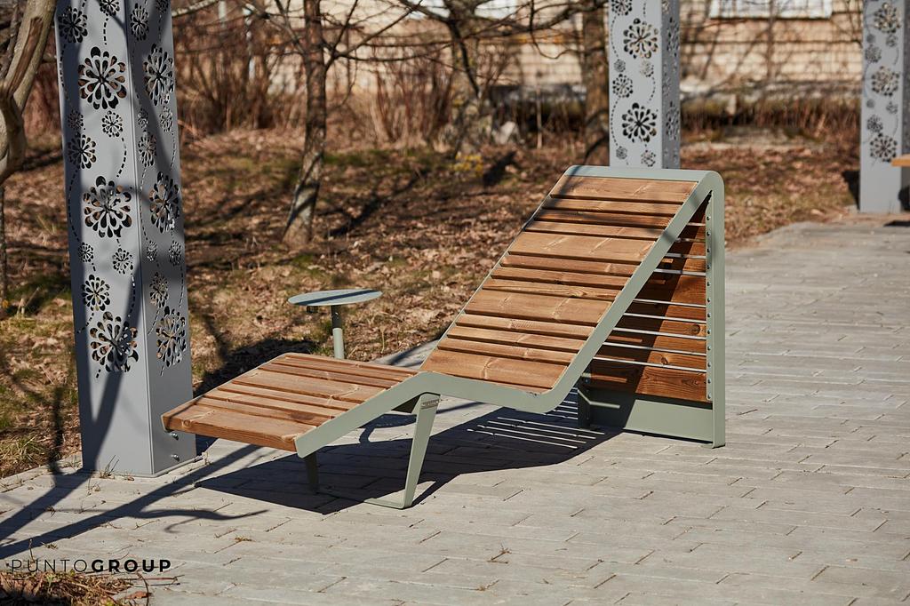 "Bench ""Infinity Wood"" Sun Lounger"