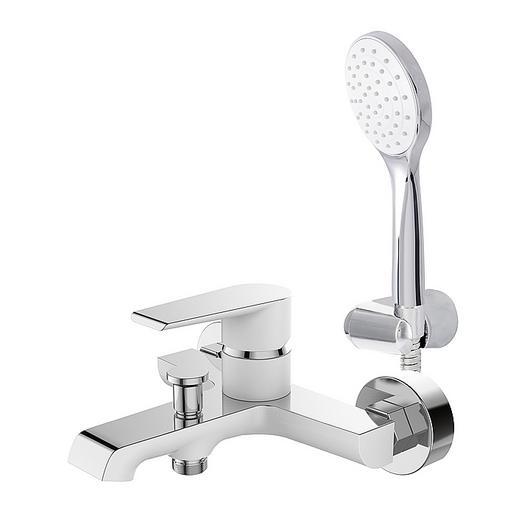 Grifería para tina ducha - blanco y cromo / Nibsa