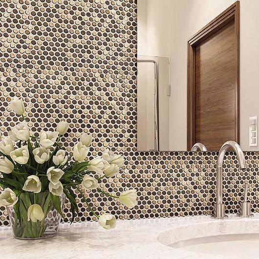 Mosaicos decorativos para muros interiores