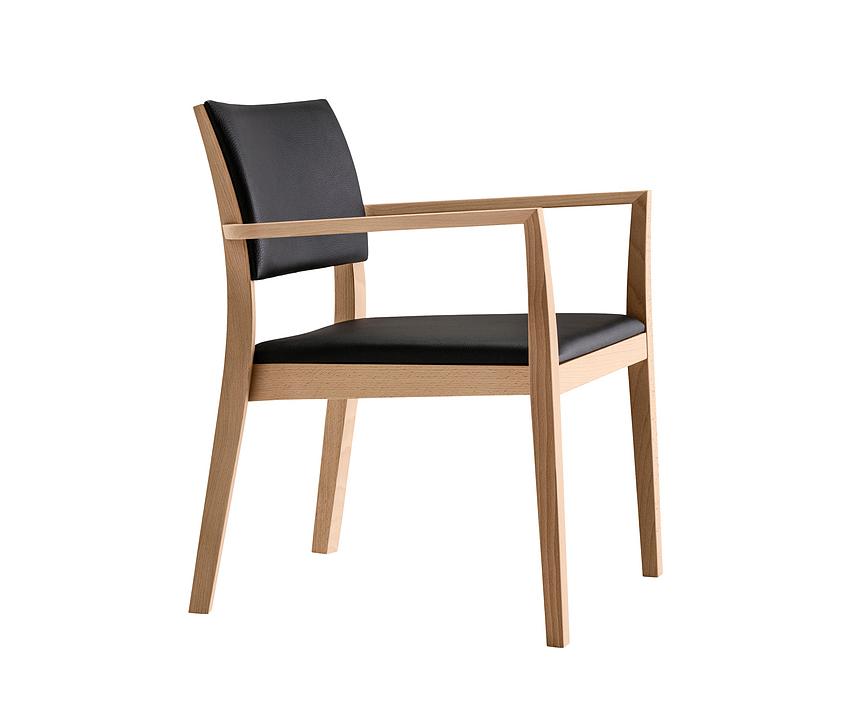 Wooden Armchair - lounge esprit 6-693a
