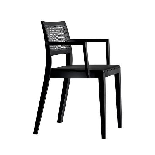 Upholstered/Woven Armchair- lyra mandarin 6–543a / horgenglarus