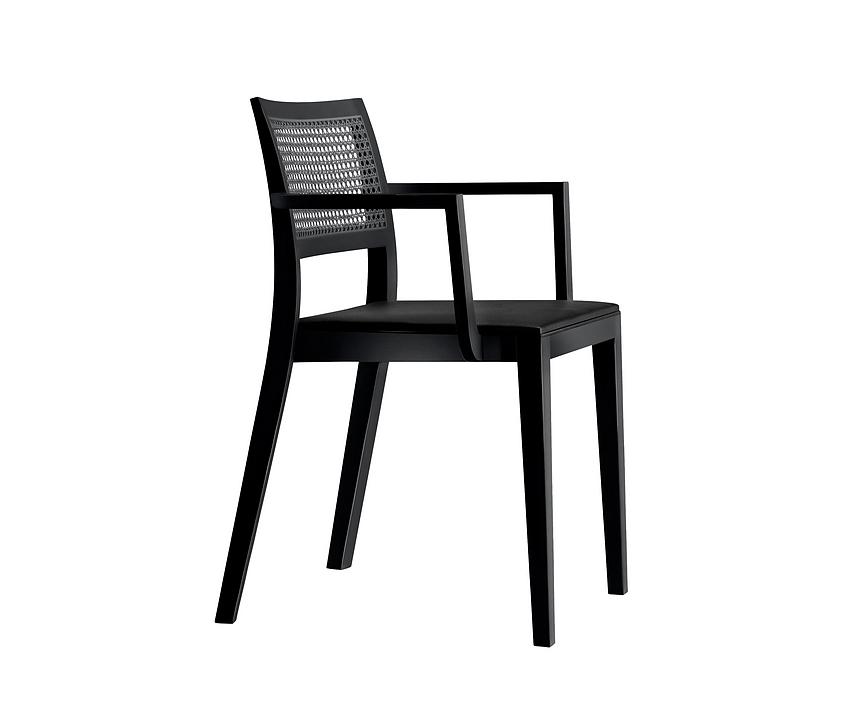 Upholstered/Woven Armchair- lyra mandarin 6–543a
