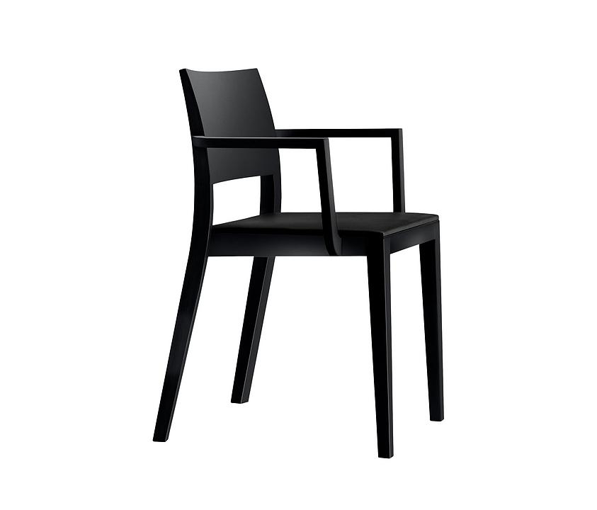 Upholstered Wooden Armchair - lyra esprit 6-553a