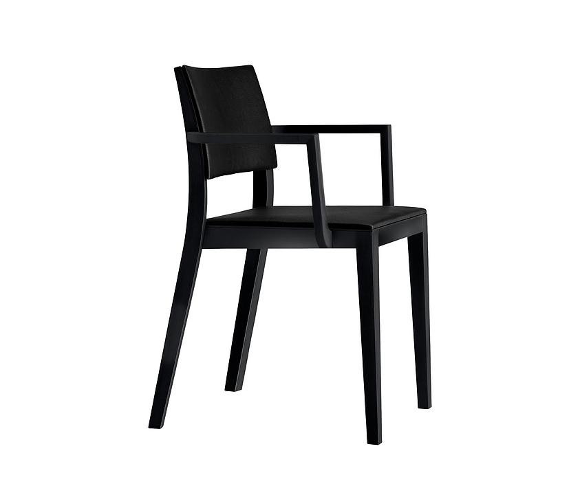 Upholstered Wooden Armchair - lyra esprit 6-555a