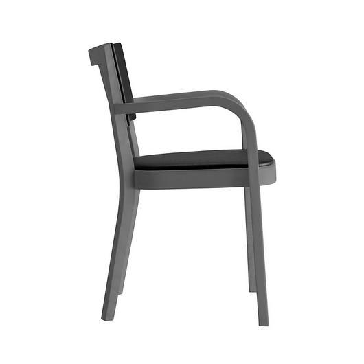 Upholstered Wooden Armchair - haefeli 1–795a / horgenglarus