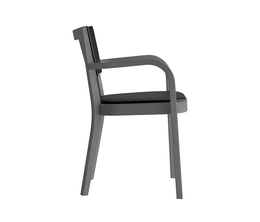 Upholstered Wooden Armchair - haefeli 1–795a