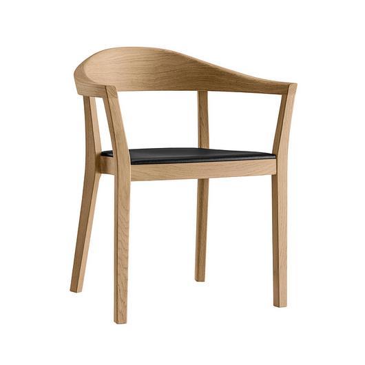 Upholstered Wooden Armchair - klio 3-353a / horgenglarus