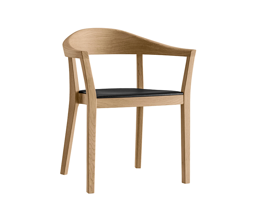 Upholstered Wooden Armchair - klio 3-353a