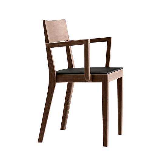 Upholstered Wooden Armchair - miro 6-403a / horgenglarus