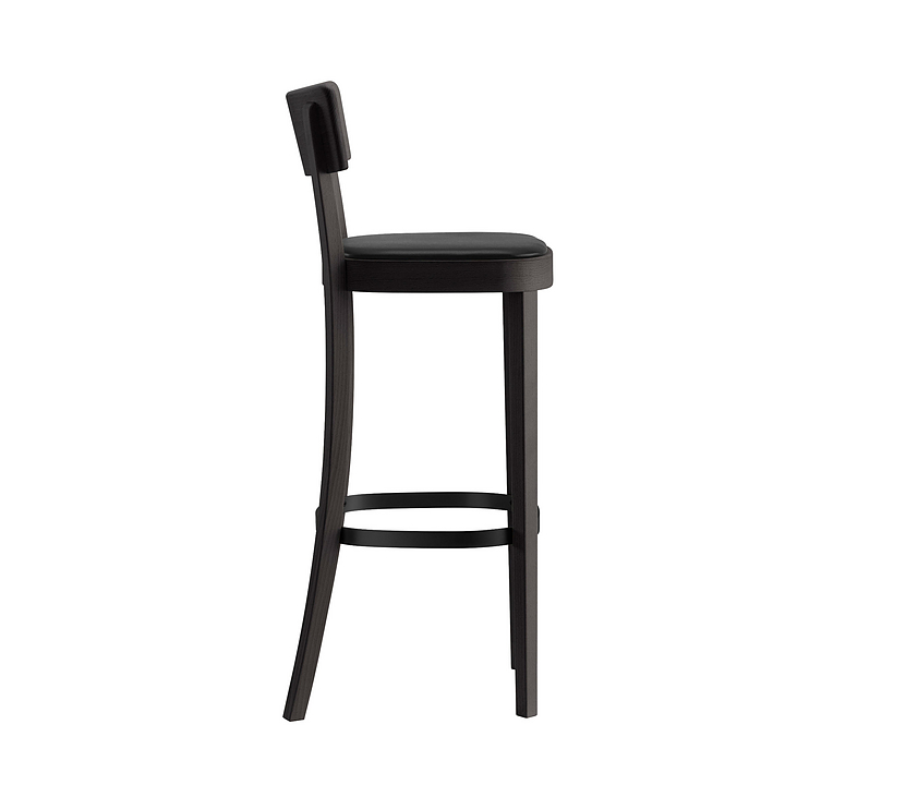 Upholstered Wooden Bar Stool - classic 11-383