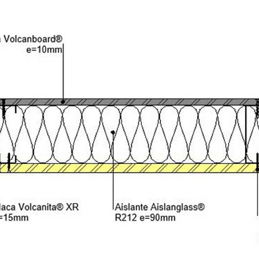 Tabique F30 perimetrales en BIM / Volcan