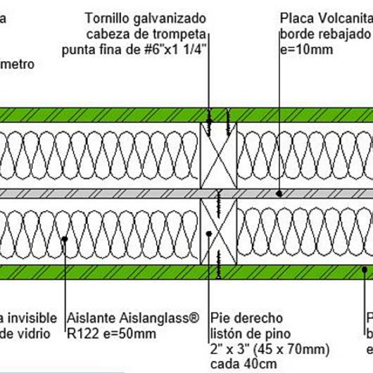 Tabique F60 húmedo húmedo en BIM / Volcan