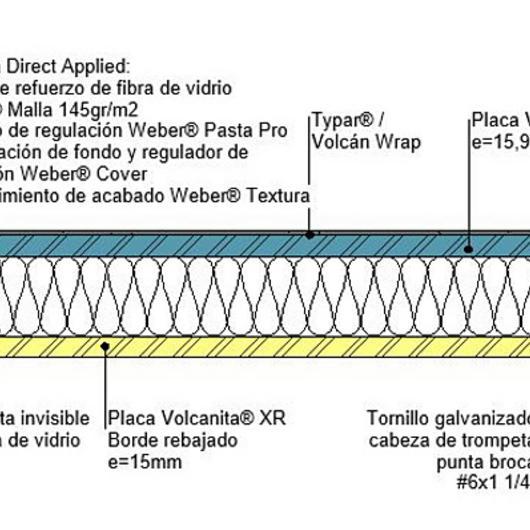Tabique F60 perimetrales en BIM / Volcan