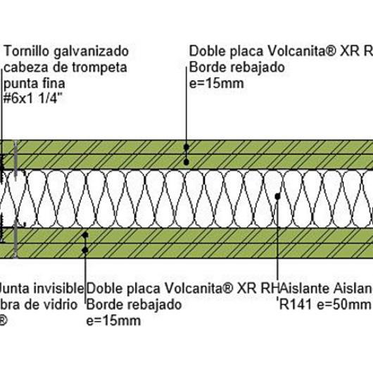 Tabique F120- F150 húmedo húmedo en BIM / Volcan