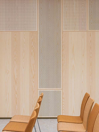 Acoustic Wood Panels | Photo: Dmitry Tkachenko