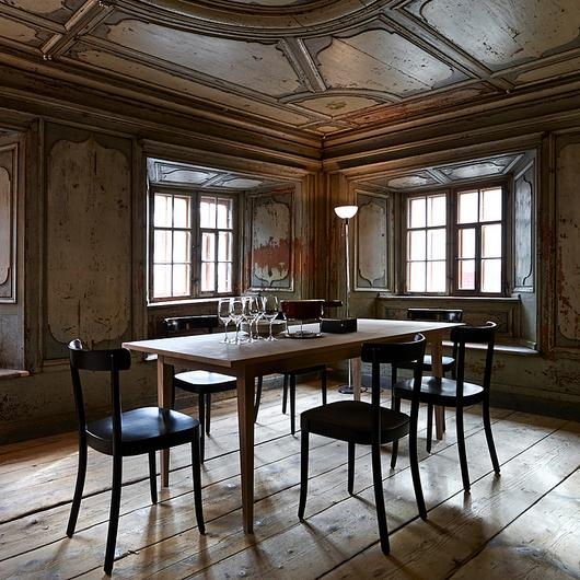 Horgenglarus Furniture in Historic Türalihus / horgenglarus